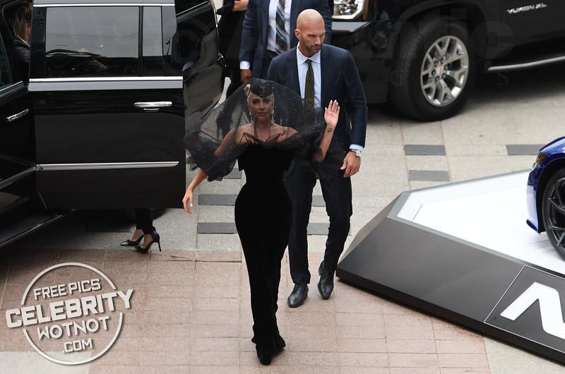 Lady Gaga Wears An Armani Privé Funeral Veil At Premiere!