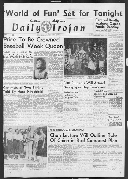 Daily Trojan, Vol. 46, No. 105, March 25, 1955