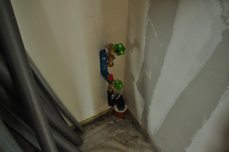 Wasseranschluss, noch ohne Wasseruhr