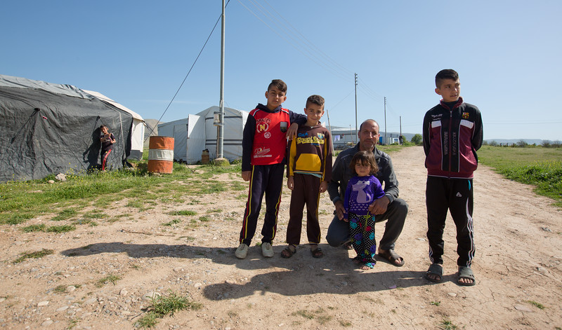 Syrian refugee's in a makeshift camp on the outskirts of Duhok, Iraqi Kurdistan.