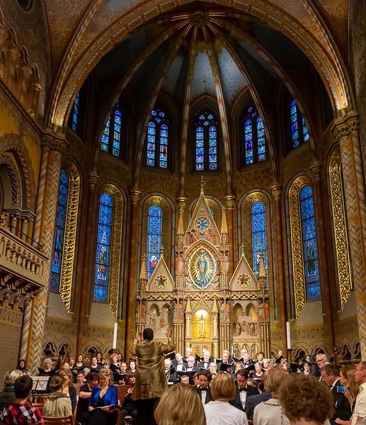 The Matthias Church concert, Budapest.