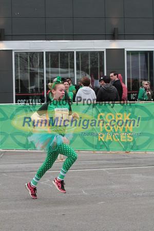 Kids Run Finish - 2015 St. Patrick's Parade Corktown Races