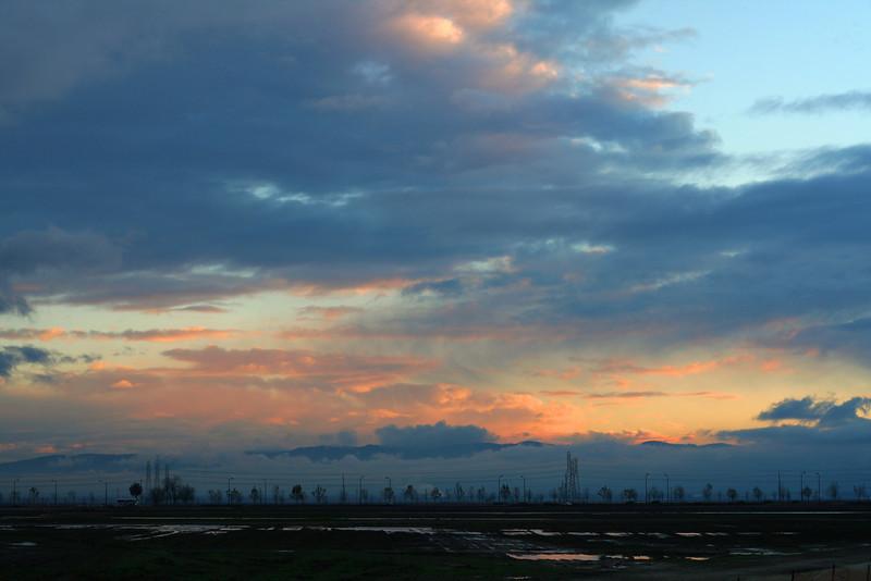 Evening sky over Fremont, CA