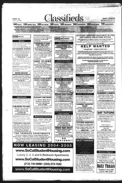 Daily Trojan, Vol. 151, No. 8, January 26, 2004