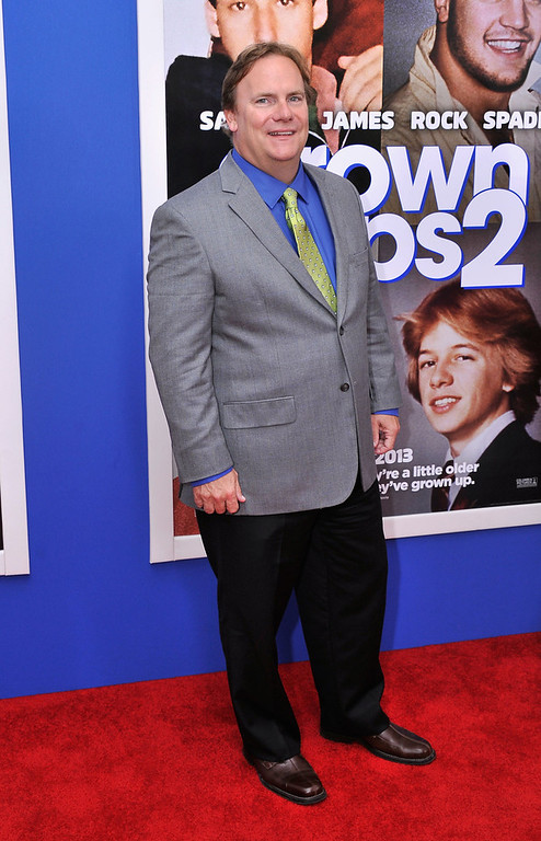 """. Actor Kevin Farley attends the \""""Grown Ups 2\"""" New York Premiere at AMC Lincoln Square Theater on July 10, 2013 in New York City.  (Photo by Stephen Lovekin/Getty Images)"""