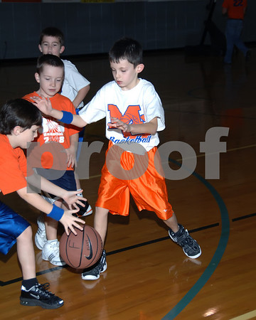 Marshall County 3 On 3 Basketball, Griggs vs. Flatt 6 And 7 Year Olds, January 3, 2009.