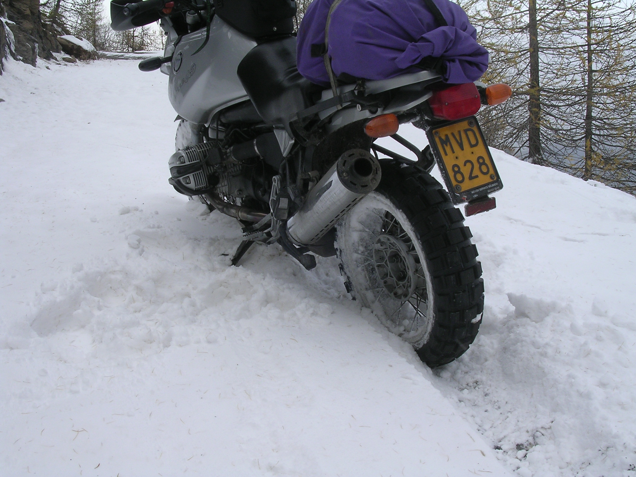 Te veel sneeuw om berijdbaar te blijven...