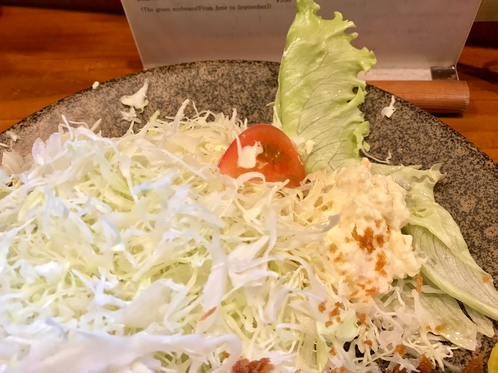 There's so much shredded cabbage that you might not be able to finish it.