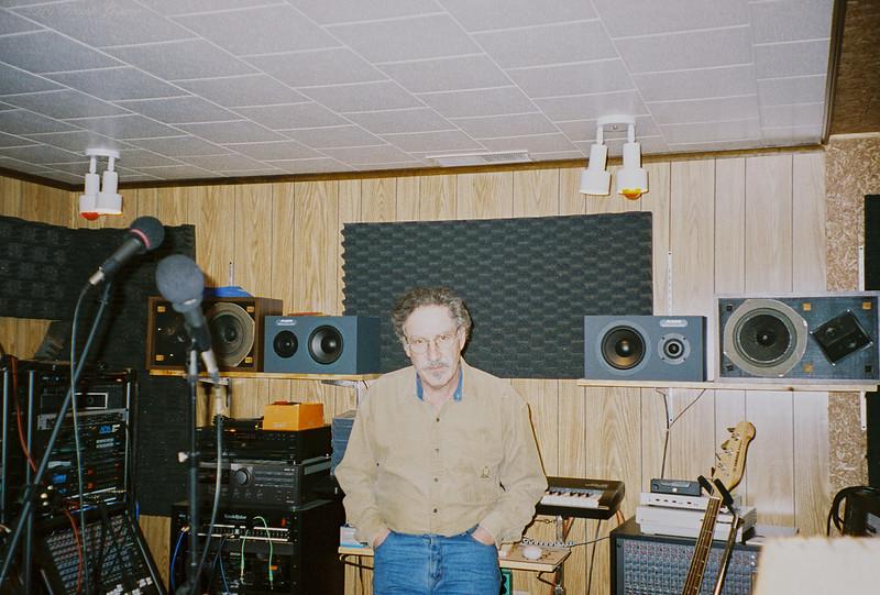 Larry Lebin in my basement studio, 702 Robert St. Jan 1 1998