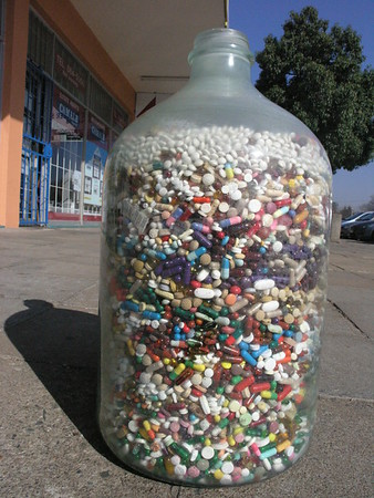 Drugs and Pills in bottles