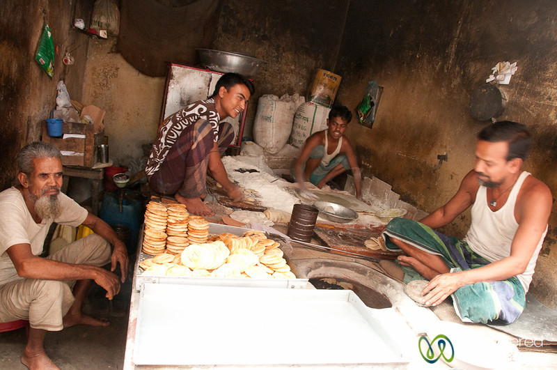 Baking Bakarkhanis (biscuits) in Old Dhaka, Bangladesh
