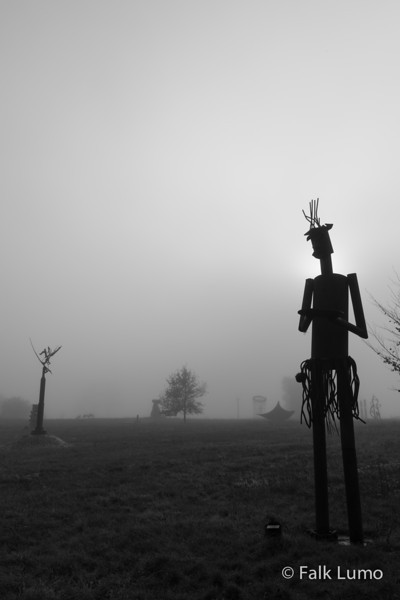 Visitor Alien creature coming out of the fog.