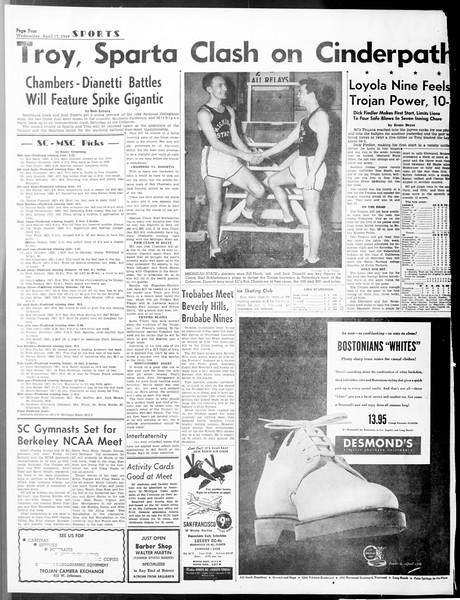 Daily Trojan, Vol. 40, No. 119, April 13, 1949