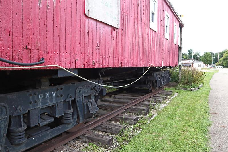 Old rail car alongside the Kal-Haven Trail in Bloomingdale