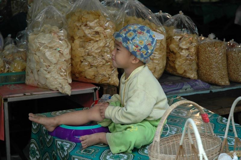 Boy at the Market - Chiang Mai, Thailand