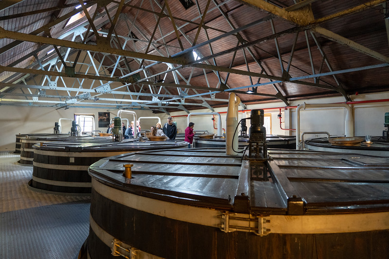 Wooden wash backs at Glenfiddich Distillery