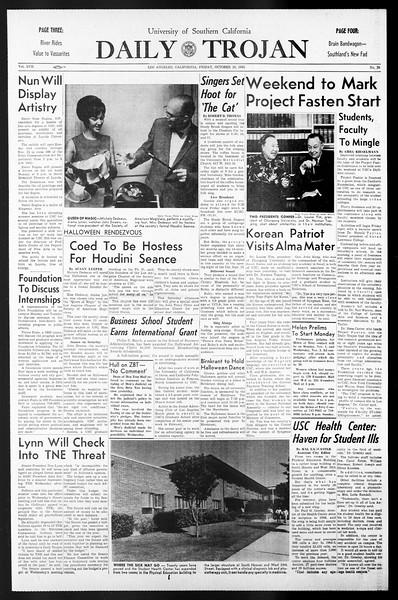 Daily Trojan, Vol. 57, No. 30, October 29, 1965