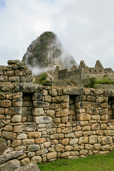 Walls of Machu Picchu and Wayana Pucchu in the background