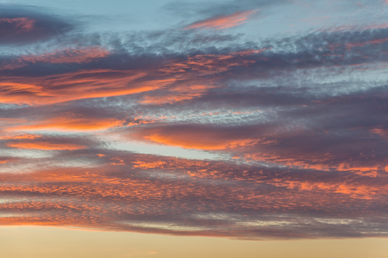 Sunset clouds over Alonnah, Tasmania