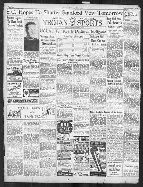 Daily Trojan, Vol. 27, No. 35, November 08, 1935