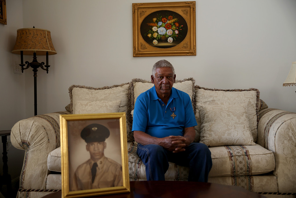 . U.S. Army Staff Sergeant Melvin Morris, a Vietnam War veteran is seen at his home on March 04, 2014 in Cocoa, Florida. (Photo by Joe Raedle/Getty Images)
