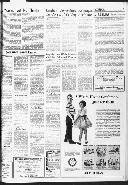 Daily Trojan, Vol. 47, No. 49, November 23, 1955