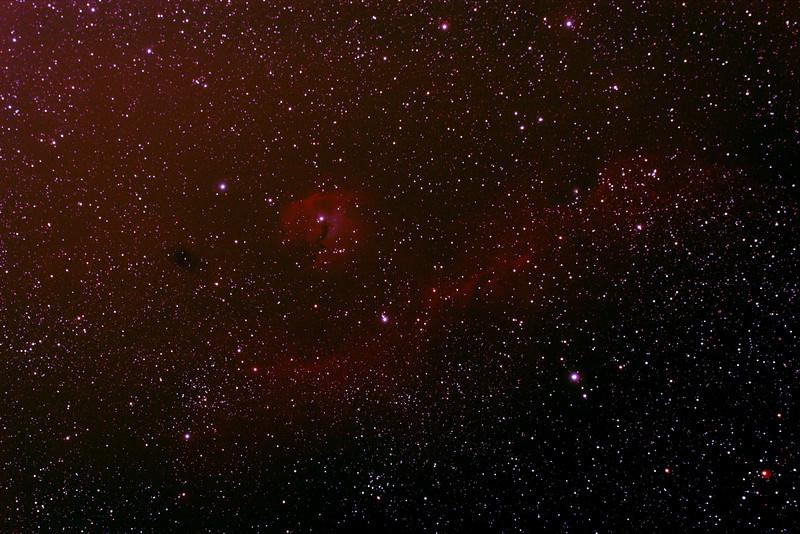 IC2177 - Gum 1&2 - Seagull Nebula - 3/1/2014 (Processed stack)