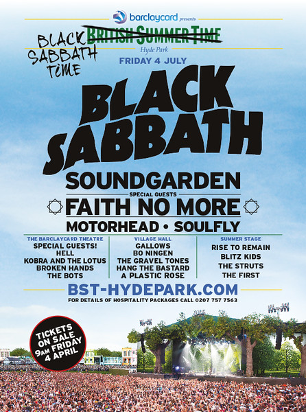 BLACK SABBATH - BST Hyde Park