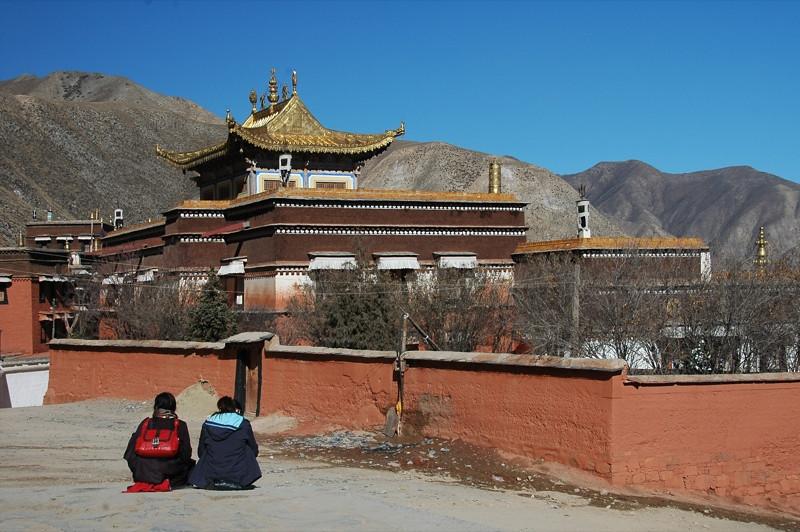 Tibetan Pilgrims Outside Labrang Monastery - Xiahe, China
