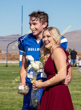 October 13, 2018; Smith Valley vs. Round Mountain, Varsity Football (Homecoming)