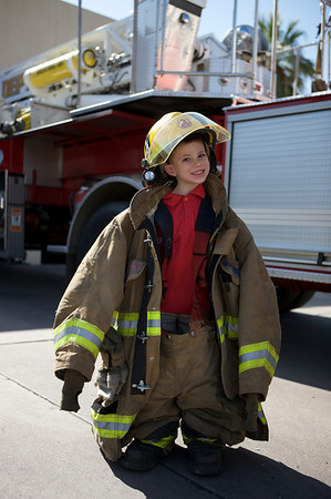 Rylan and Max - Day at the Firehouse - May 2008