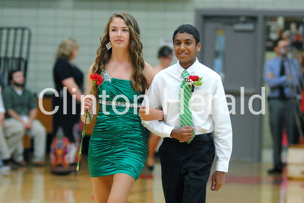 Clinton homecoming coronation