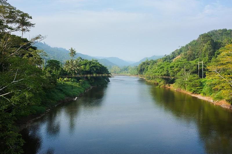 Padas River view from Kemabong, Sabah, Malaysia