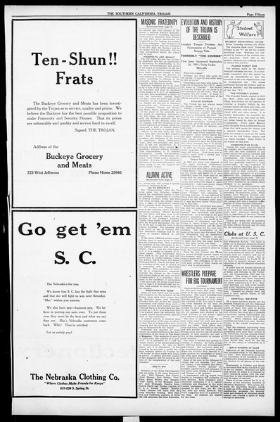 The Southern California Trojan, Vol. 13, No. 17, November 03, 1921