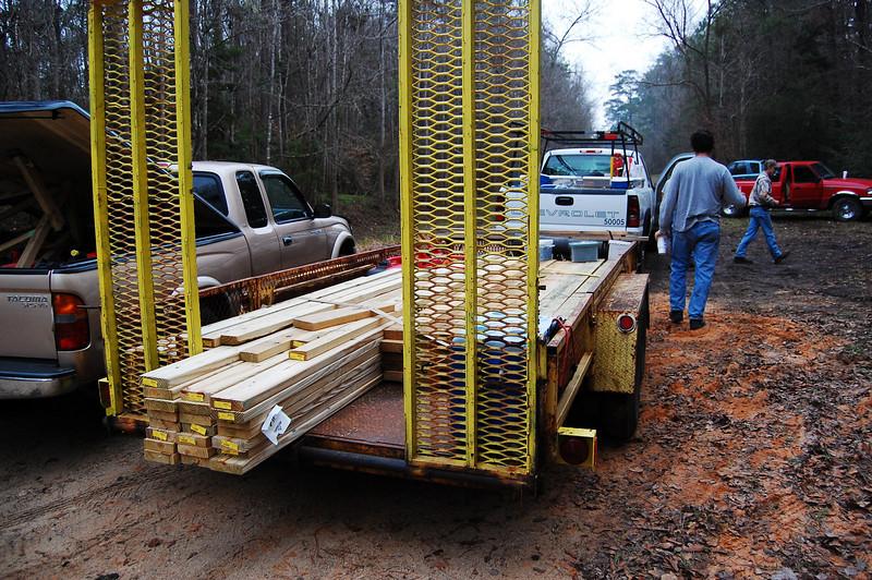 Begin 25 Jan '09 group build photos.
