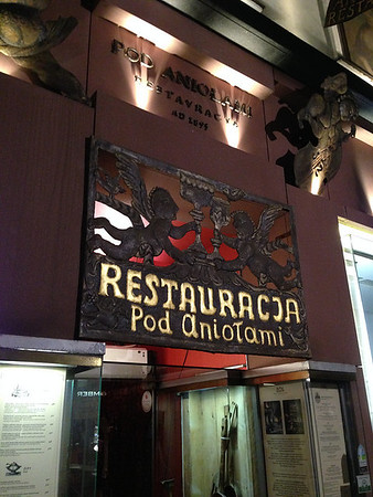 Pod Aniołami restaurant, Kraków. Photo credit: Karen Mardahl
