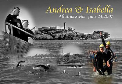 Andrea & Isabella swim Alcatraz June 2007
