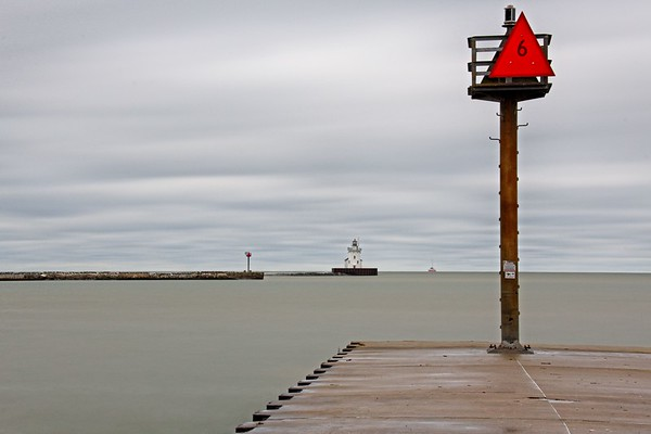 Windy Fall Day At Edgewater Park