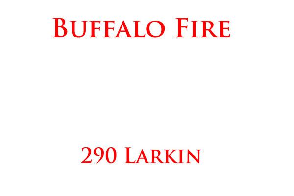 Buffalo Fire working at 290 Larkin Street.