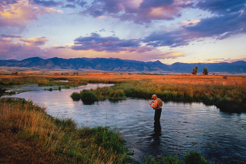 A private spring Creek in Montana