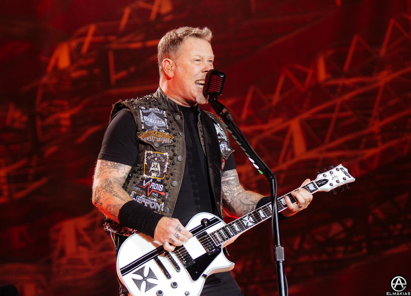 James Hetfield of Metallica at Rock in Vienna - European Festivals