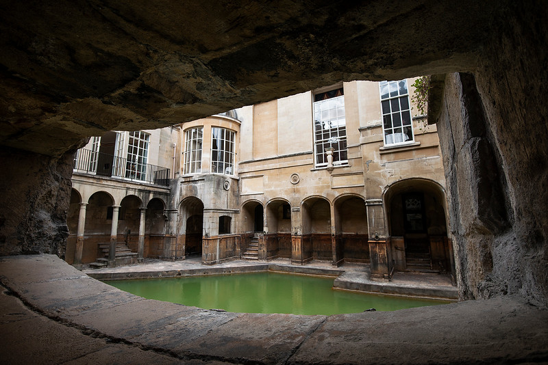 Roman baths.  Bath, England, 2018.