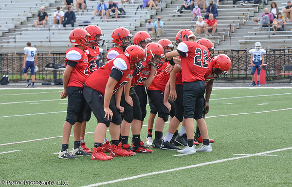 8th Grade Football Action