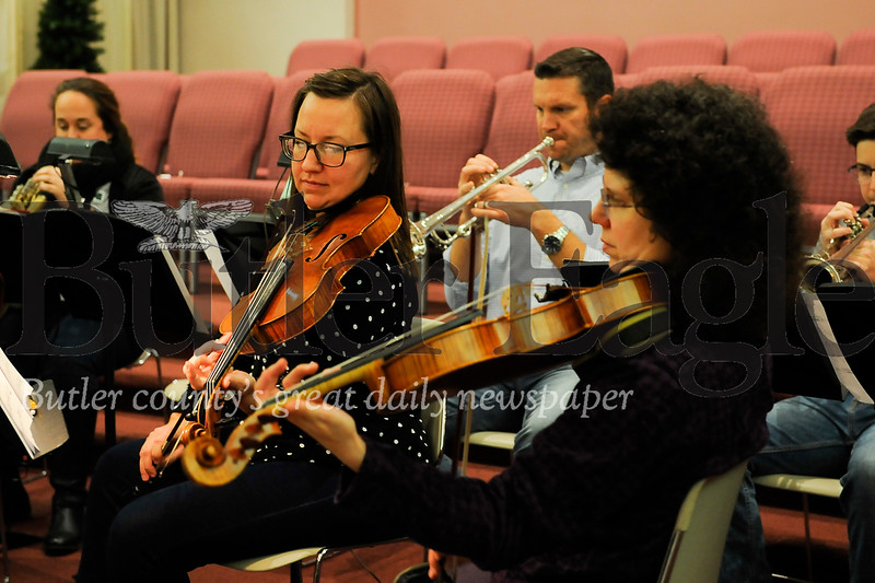 The SMPC Fest Orchestra practice ahead of their Christmas Cantana at Saxonburg Memorial Presbyterian Church on Wednesday December 11, 2019 (Jason Swanson photo)