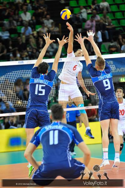 Birarelli e Zaytsev [ITA] muro - Italia-Iran, World League 2013 - Modena