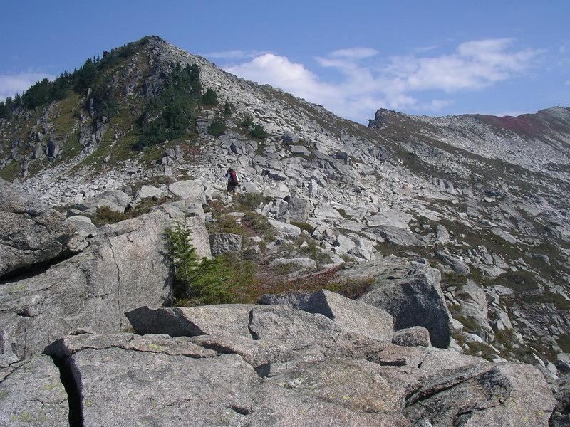 Heading toward the ridge.