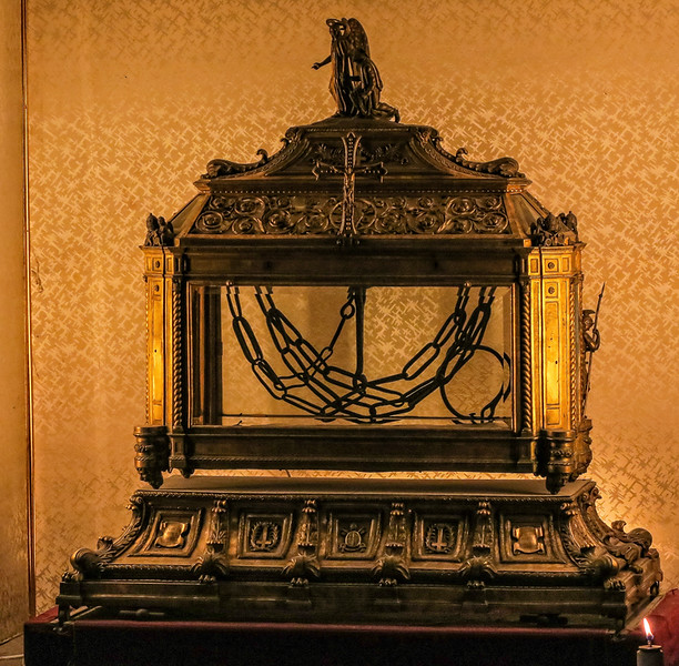 ornate case with chains