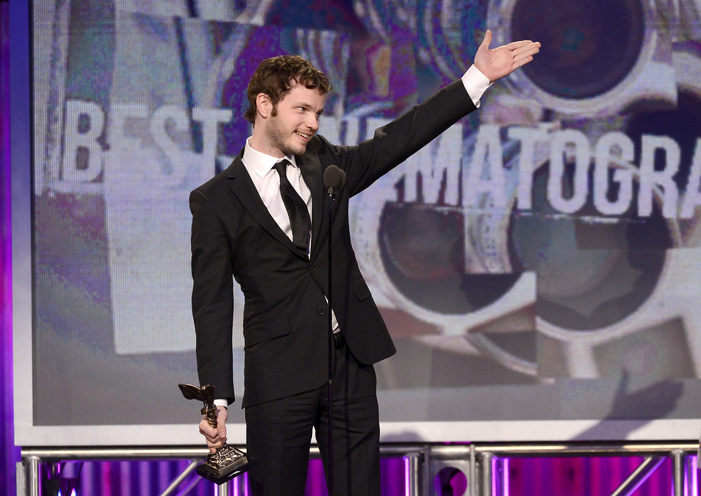 . SANTA MONICA, CA - FEBRUARY 23:  Ben Richardson accepts the award for Best Cinematography onstage during the 2013 Film Independent Spirit Awards at Santa Monica Beach on February 23, 2013 in Santa Monica, California.  (Photo by Kevork Djansezian/Getty Images)
