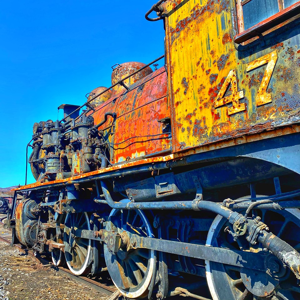 engine 47 at Steamtown national historical site - scranton pennsylvania