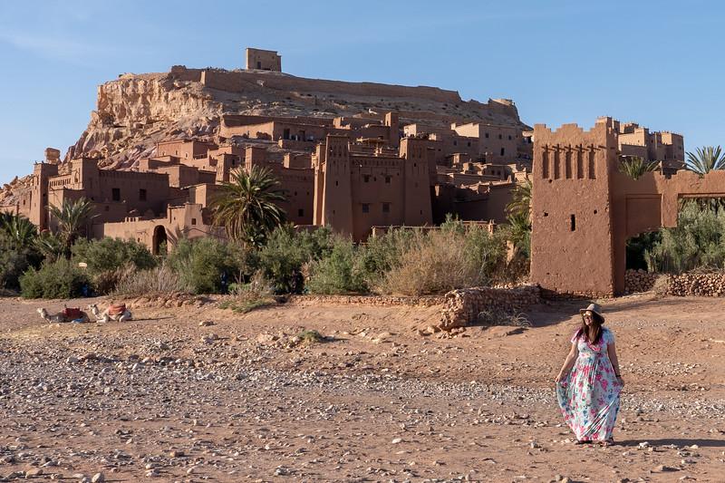 Amanda at Ait-Ben-Haddou, Morocco
